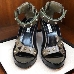 Balenciaga Velcro platform/sandals